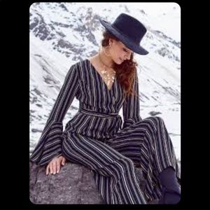 Altar'd state pinstriped black jumpsuit size small